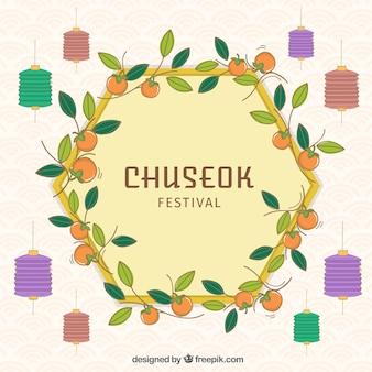 Moderner chuseok-hintergrund