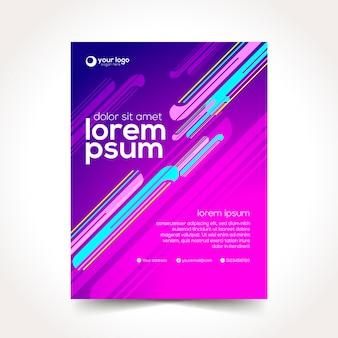 Moderner design-schablonen-hintergrund mit abstraktem element