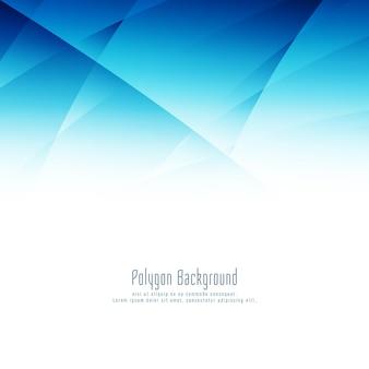 Moderner designhintergrund des abstrakten blauen polygons