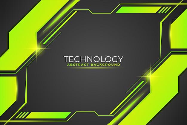 Moderner digitaler hintergrund mit hellgrünen geometrischen formen
