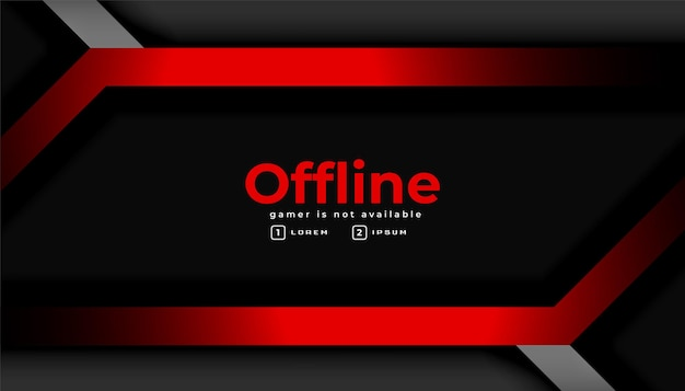 Moderner dunkler gaming-offline-banner-hintergrund