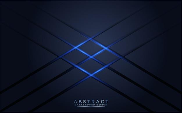 Moderner dunkler marinehintergrund mit blaulicht