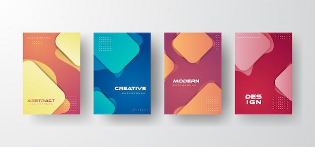 Moderner dynamischer abstrakter hintergrund