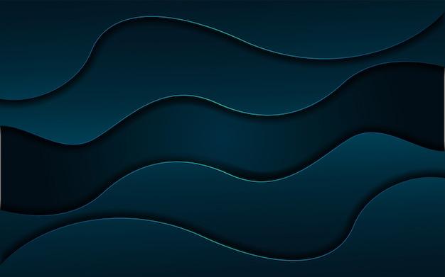 Moderner dynamischer flüssiger marinehintergrund