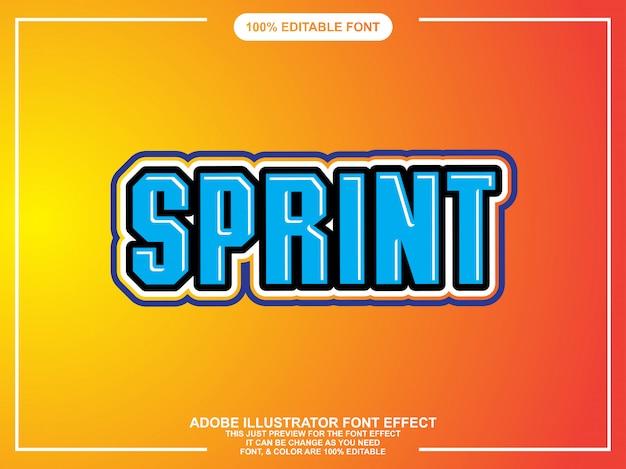 Moderner editierbarer grafischer text-texteffekt