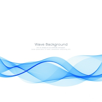 Moderner eleganter blauer wellenhintergrund