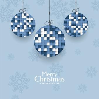 Moderner eleganter froher weihnachtsgrußhintergrund