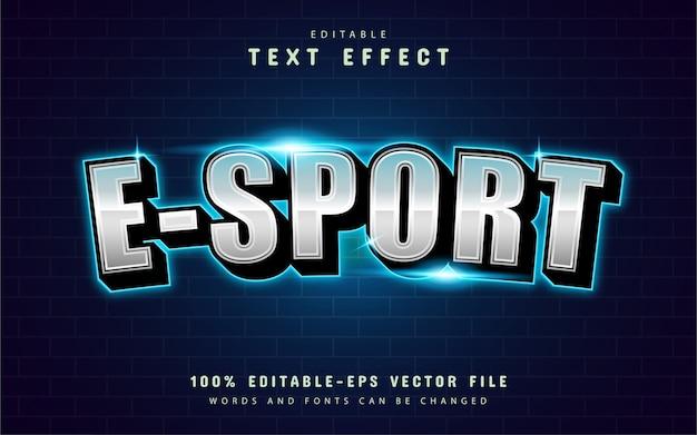 Moderner esport-texteffekt mit blauem licht