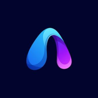Moderner farbbuchstabe ein logo