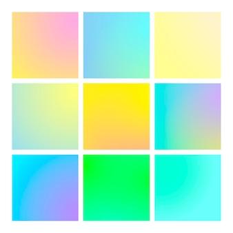 Moderner farbverlauf mit quadratischen abstrakten hintergründen