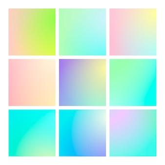 Moderner farbverlaufssatz