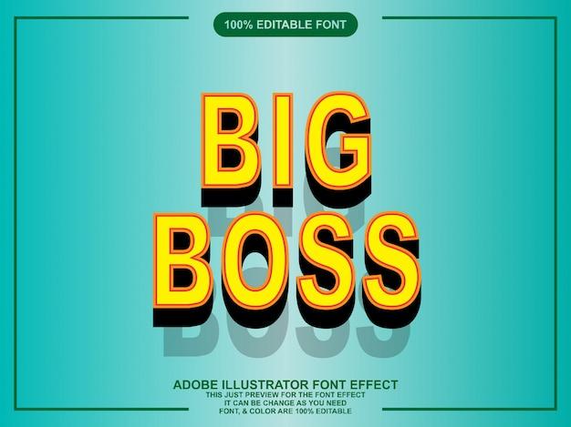 Moderner fetter bearbeitbarer texteffekt für illustrator