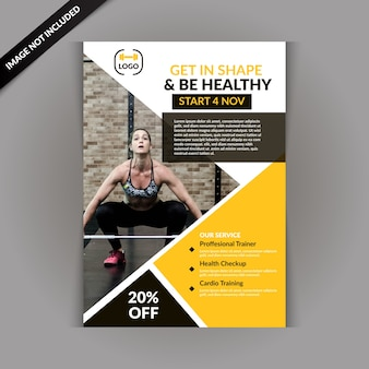 Moderner fitness-gym-flyer