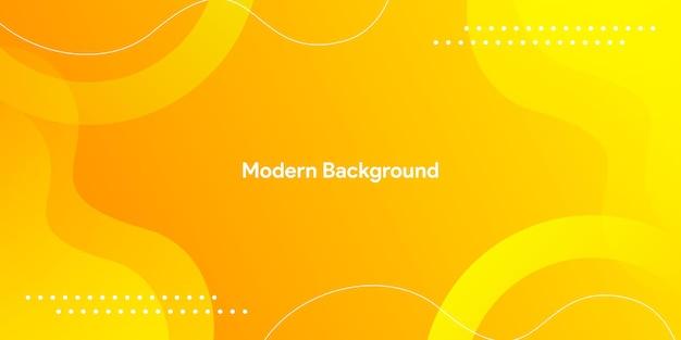 Moderner fließender lebendiger bunter gelber hintergrund