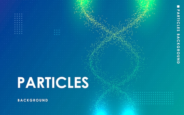 Moderner flüssiger fluss punktiert elementblauhintergrund