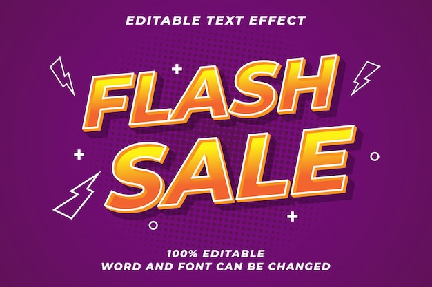 Moderner font-effekt für den flash-verkauf