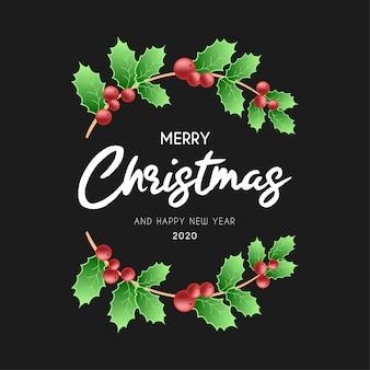 Moderner frohe weihnacht-rahmen