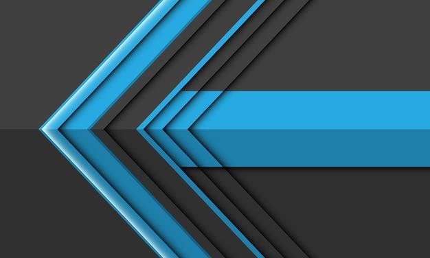 Moderner futuristischer hintergrund des abstrakten blauen grauen pfeilrichtungsentwurfs