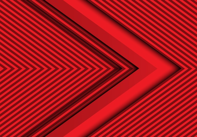 Moderner futuristischer hintergrund des abstrakten roten pfeiles.