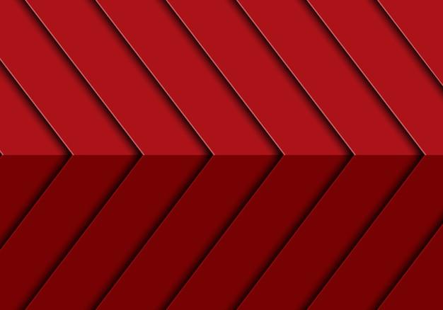 Moderner futuristischer hintergrundvektor des abstrakten roten musterdesigns des pfeiles 3d.