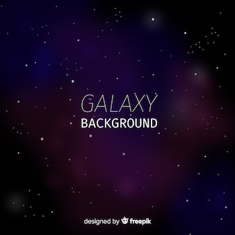 Moderner galaxiehintergrund mit bunter art