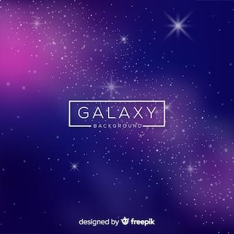 Moderner galaxiehintergrund mit realistischem design