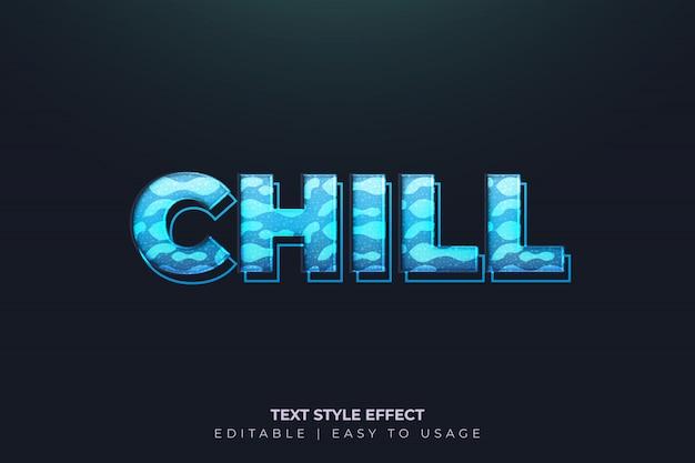 Moderner gefrorener mutiger text-art-effekt mit blauer steigung