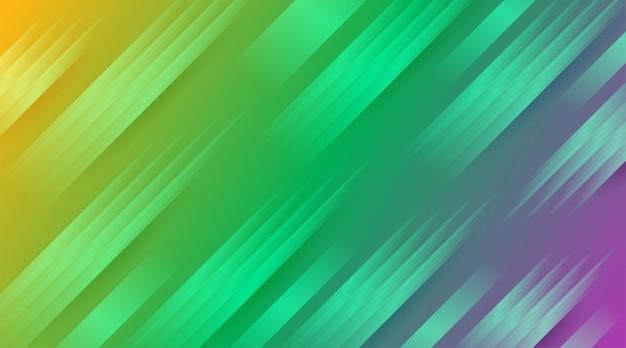 Moderner gelber farbverlauf mit hellgrünem und glänzendem lila linienhintergrund