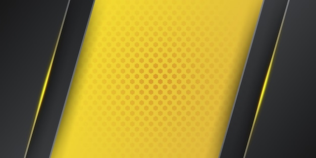Moderner gelber schwarzer abstrakter hintergrund 3d