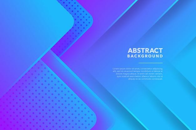 Moderner geometrischer abstrakter blauer lila hintergrund