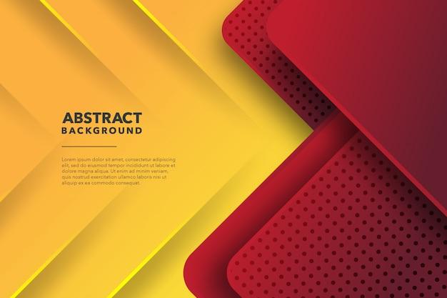 Moderner geometrischer abstrakter roter gelber hintergrund