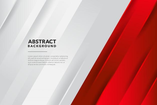 Moderner geometrischer abstrakter roter weißer hintergrund