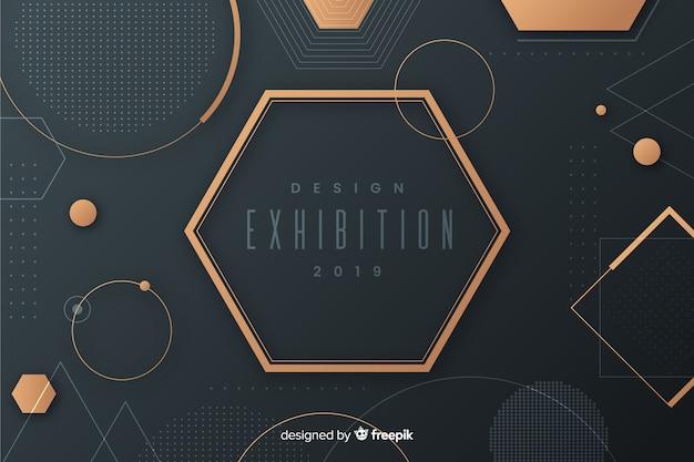 Moderner geometrischer formhintergrund im flachen design