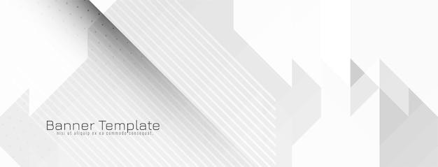 Moderner geometrischer grauer und weißer mosaikfahnenvektor