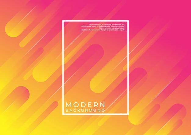 Moderner geometrischer hintergrund. dynamische formkomposition