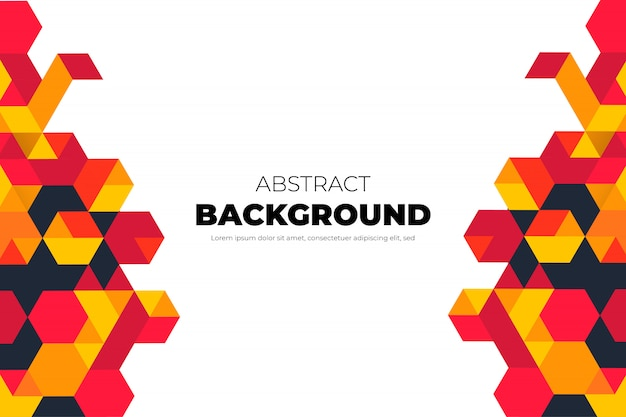 Moderner geometrischer hintergrund mit abstrakten formen