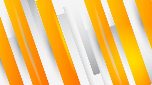 Moderner geometrischer hintergrund. orange elemente mit flüssigem farbverlauf. dynamische formenzusammensetzung