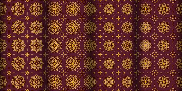 Moderner geometrischer nahtloser musterhintergrund. klassische batik tapete. einstellen