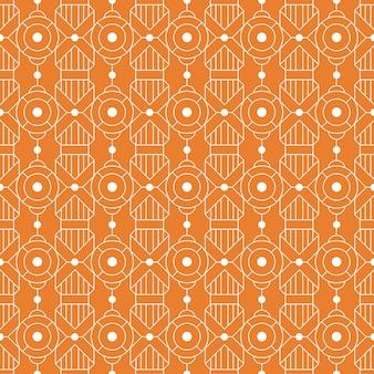 Moderner geometrischer nahtloser musterhintergrund. klassische batik tapete.