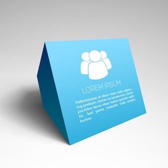 Moderner geschäftshintergrund mit blauem visitenkartenlayout