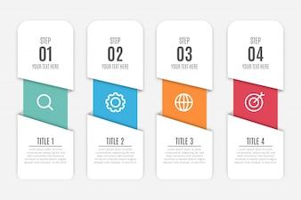 Moderner Geschäftsinfografik Hintergrund