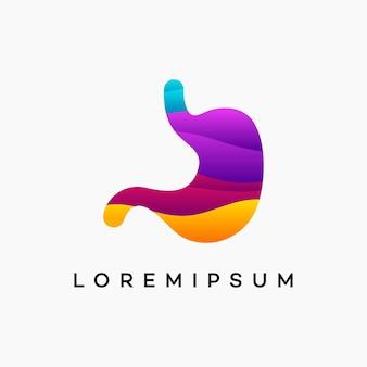 Moderner gewellter magen-pflege-logo-vektor, pflege-logo-designs-vorlage, designkonzept, logo, logo-element für vorlage