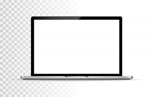 Moderner glatter laptop lokalisierter vektor