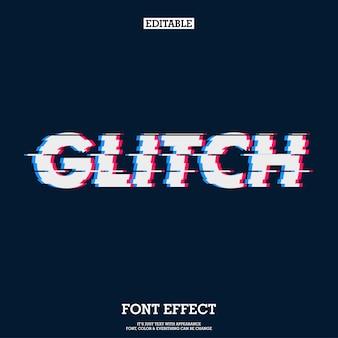 Moderner glitch font effect