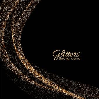 Moderner goldener eleganter vektorhintergrund der scheine