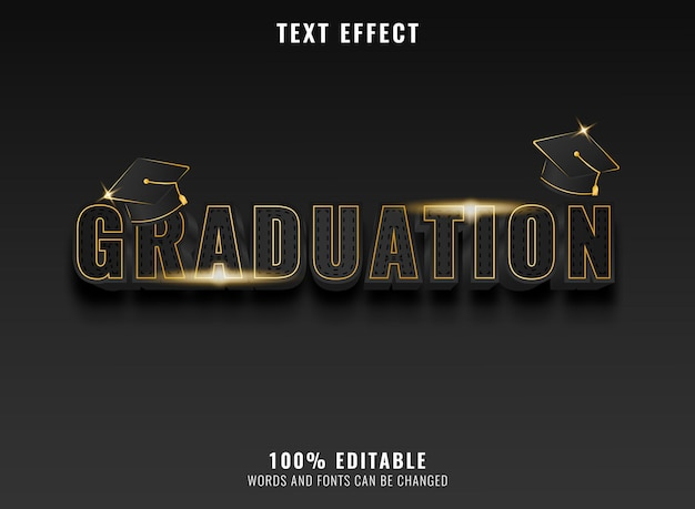Moderner goldener luxusabschlusstexteffekt mit kappe