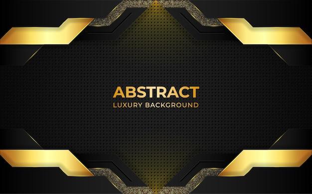 Moderner goldener luxushintergrund mit geometrischen formen.