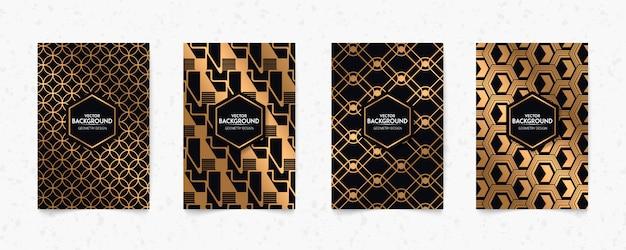 Moderner goldmuster art deco geometrie stil textur hintergrund