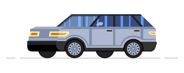 Moderner großer geländewagen im cartoon-stil