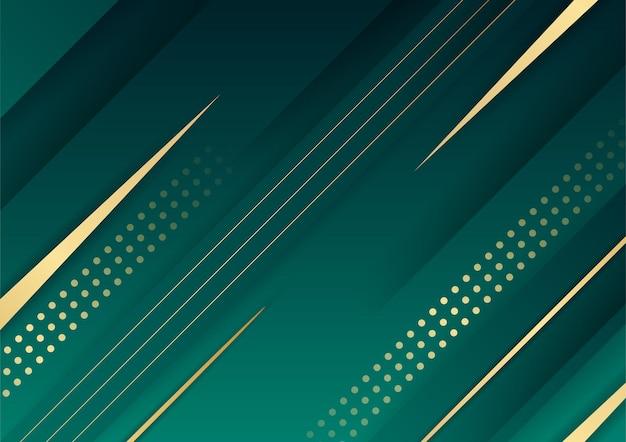 Moderner grüner dunkler hintergrund 3d für präsentationsdesign. vektorillustrationsdesign für präsentation, banner, cover, web, flyer, karten, poster, tapeten, texturen, folien, zeitschriften